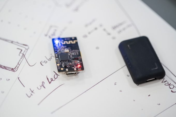 A close up of a micro-chip board
