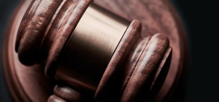 Close up of a judge hammer